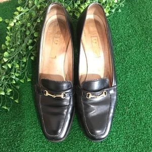 Gucci Black Leather Loafer Sz 35.5 B